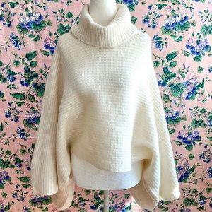NWT ZARA Alpaca Wool Oversized Turtleneck Sweater